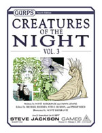 GURPS Creatures of the Night, Vol. 1 – Cover